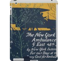 The New York Decorators Ambulance Fund5 East 48th Street by New York interior decorators for our boys at the frontEvery cent for ambulances & trailers iPad Case/Skin