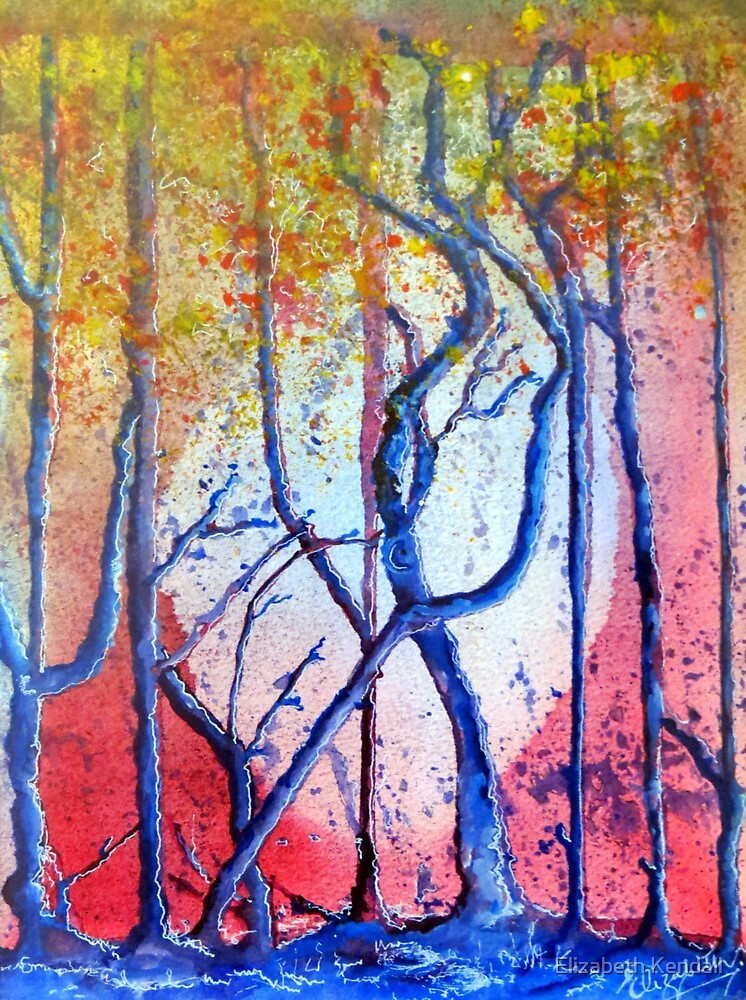 Trees in early morning by Elizabeth Kendall