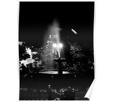 Parque Calderon Fountain, Cuenca, Ecuador Poster