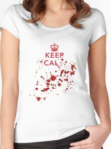 Keep cal... Women's Fitted Scoop T-Shirt