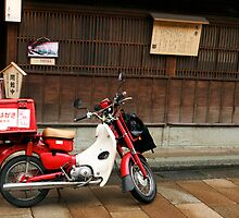 Japanese Postman's Motorcycle by lorenzoviolone