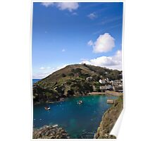 Polperro Harbour on a Peaceful Day Poster