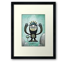 Alien Guard Framed Print