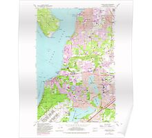 USGS Topo Map Washington State WA Steilacoom 244030 1959 24000 Poster