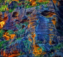 Blue Mountains Abstract -  The HDR Experience by Philip Johnson