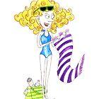 Beach lady by Tessie Dowling