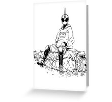 Saitama X Kamen Rider Ghost Greeting Card