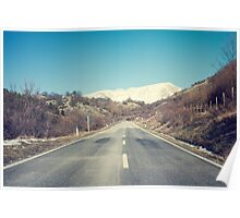 Road with mountain Poster
