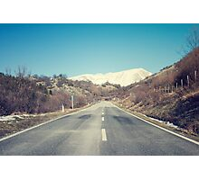 Road with mountain Photographic Print