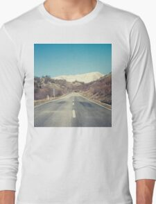Road with mountain Long Sleeve T-Shirt