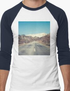 Road with mountain Men's Baseball ¾ T-Shirt