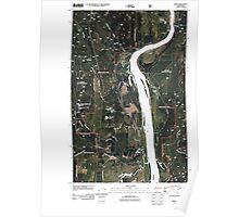 USGS Topo Map Washington State WA Jared 20110510 TM Poster