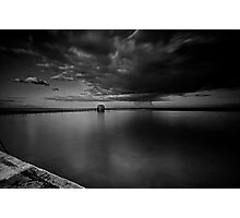 Incoming Storm, Merewether Ocean Baths, mono Photographic Print