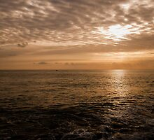 Sunset over a Bubbling Sea by Simon R. Court