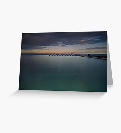 Line up!  Merewether Ocean Baths. Greeting Card