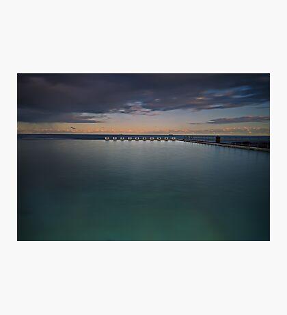 Line up!  Merewether Ocean Baths. Photographic Print