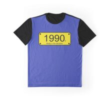 Born in the Nineties T-Shirt - 90s Number License Plate Card Graphic T-Shirt