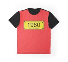 Made in the 1980s Number License Plate T-Shirt ~ Born in the Eighties Graphic T-Shirt