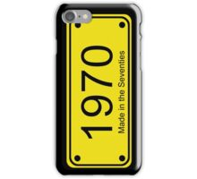 70s License Plate iPhone Cover ~ 1970 ~ Born in the Seventies Case iPhone Case/Skin