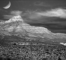 Red Rock Canyon in B&W by Christine Annas
