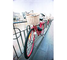 Day 5 - Wide Wednesday - Red Bicycle Photographic Print