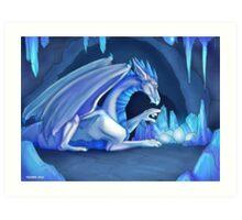 Mama Ice Dragon Art Print