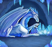 Mama Ice Dragon by lumaria