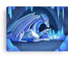 Mama Ice Dragon Canvas Print