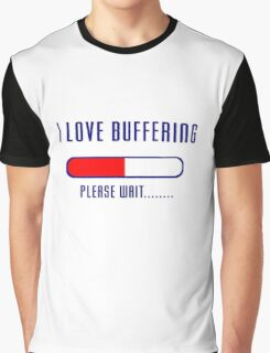 Buffering Please Wait T-shirt - Application File Loading Graphic T-Shirt
