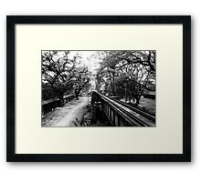 Death Railway Framed Print