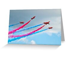 Synchronised Flying ~ Red Arrows Greeting Card