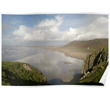 Rhossili Bay, Gower, Wales Poster