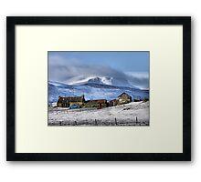 Highland Croft in Winter Framed Print