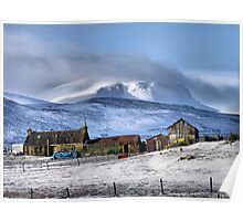 Highland Croft in Winter Poster