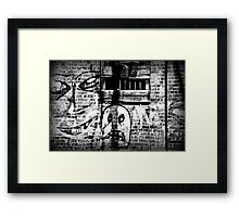 """Ghost on the Wall"" 2000 12 Framed Print"