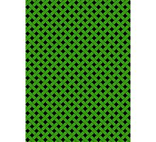 Basket Weave in Green Photographic Print
