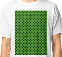 Basket Weave in Green Classic T-Shirt