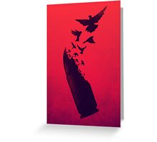 Bullet Birds Greeting Card