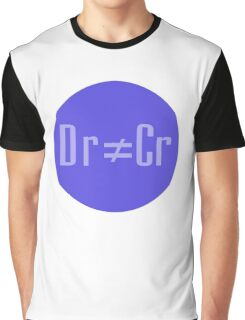 Accounting Humor T-shirt - Debit does not equal Credit Clothing - Dr Cr Graphic T-Shirt