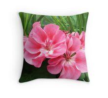 Tropical Pink Throw Pillow