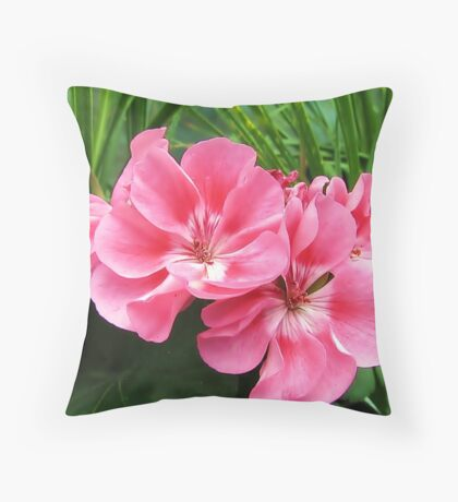 Tropical Pink Throw Pillow