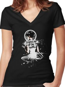 I - M A K E - M Y - W A Y - I N - T H E - W O R L D Women's Fitted V-Neck T-Shirt