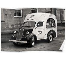 Vintage Ice Cream Van Poster
