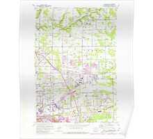 USGS Topo Map Washington State WA Orchards 242978 1961 24000 Poster