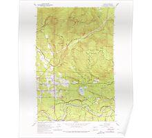USGS Topo Map Washington State hobart wa histmap Poster