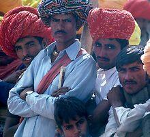 Rajasthani Men  by Eva Kato