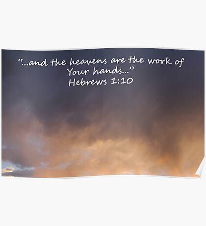 """Hebrews 1:10""  by Carter L. Shepard Poster"