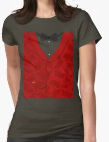Victoriana - Bow Tie, Waistcoat and Watch Womens Fitted T-Shirt