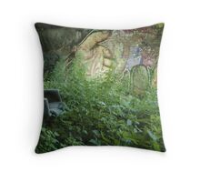Squatter's garden Throw Pillow