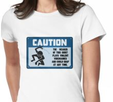 Caution - Violent Video Games Womens Fitted T-Shirt